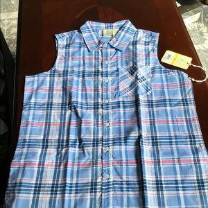 Caribbean Joe size medium 100% cotton blouse.